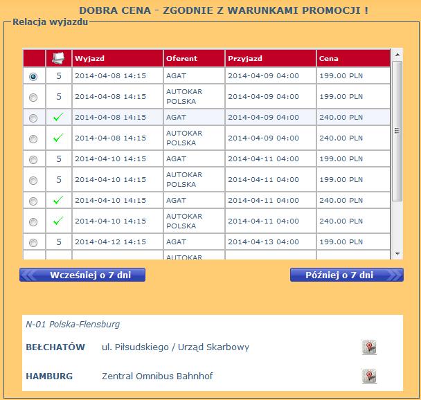Bilety Autokarowe Agat Bełchatów Hamburg