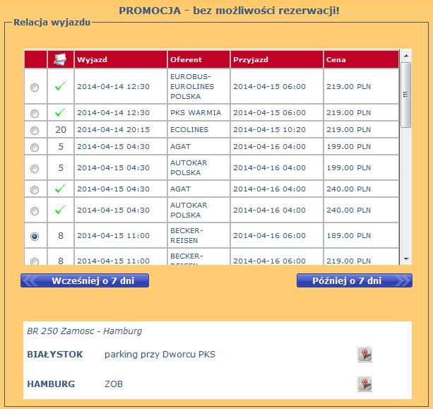 Bilety Autokarowe Białystok Hamburg