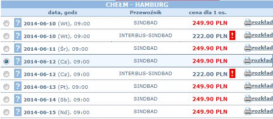 bilety autokarowe chełm-hamburg