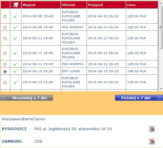 bilety autokarowe eurobus-eurolines bydgoszcz-hamburg