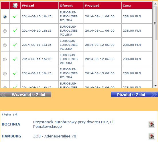 bilety autokarowe eurobus-eurolines z bochni do hamburga