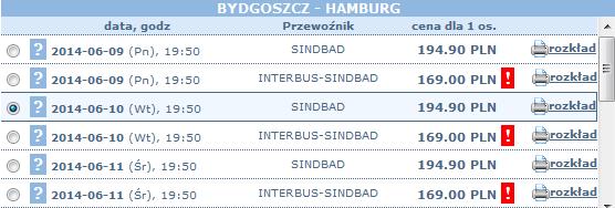 bilety autokarowe sindbad bydgoszcz-hamburg